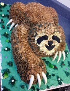 Oh mer gerd! Baby Sloth, Cute Sloth, Fancy Cakes, Cute Cakes, Beautiful Cakes, Amazing Cakes, Sloth Cakes, Cookie Bakery, Chocolates