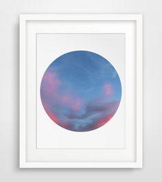 Blue Sky Print Cloud Art Cloud Wall Art by MelindaWoodDesigns #bluesky #skydecor