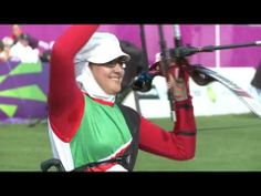 Zahra Nemati who became disabled as a result of the earthquake in Iran (spinal cord injury)  but then went on to become Iran's first gold medalist woman in Paralympics in 2012 (London) by taking up archery. Before the earthquake, she was a taekwondo champion.  More info here: http://www.paralympic.org/video/irans-zahra-nemati-individual-winner-2013-spirit-sport-awards