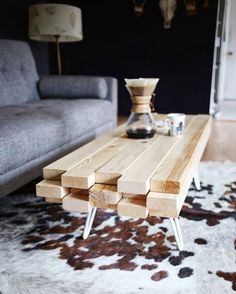 Scrap wood planks can be upcycled into a beautiful, one-of-a-kind coffee table for your living room.