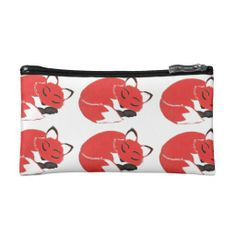 Sleeping Foxes Pattern Bag; Abigail Davidson Art; ArtisanAbigail at Zazzle