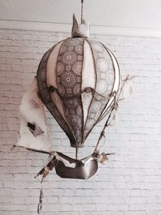 Hot air Balloon vintage Ship Mobile on Etsy, $400.00