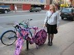 yarn bike by essex and delancey in the lower east side
