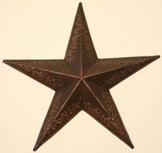 EMBOSSED STAR - BERRY VINE BRONZE