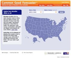 Be informed! Learn how your community ranks in academic attainment, income stability and health. Use the United Way Common Good Forecaster, a powerful online tool that lets people see for themselves how improving the education level has a positive impact on several key economic and social measures.  http://apps.unitedway.org/forecaster/