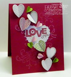 LOVE you with lots of hearts.  Debbie's Designs: CCMC236!