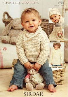 Sirdar - 1785 - Sweater, Hat & Blanket (birth to 7 years) - Purchase pattern from P:atternfish