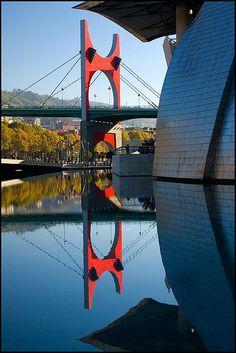 Basque Country, Bizkaia, Bilbao, Puente La Salve