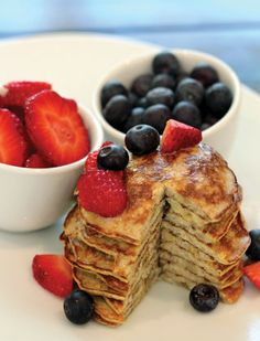 Paleo Pancakes: Almond flour, egg, cinnamon, & vanilla -OR- Banana, egg, cinnamon, & vanilla