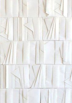 Wall Sculptures, Sculpture Art, Modernisme, 3d Wall Panels, White Aesthetic, Wall Treatments, Textures Patterns, Textile Design, Wall Design