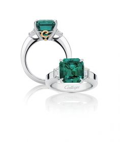 stunning emerald ring by Calleija. via Opulent Jewels / LANE.