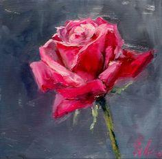 Simple Rose Painting | Art & Artists | Acrylic painting flowers, Painting, Acrylic art