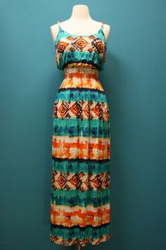 Twisted Sleeve Tie Dye Maxi Dress, $48.00