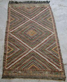Vintage Embroidery Kilim, Colorful Kilim Rug, Handmade Turkish Rug, 3'4''x5'5'' #RugToGo #Boho