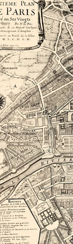 paris I love the use of line on these hand drawn maps. This is a superb example. Love to see the full sheet.