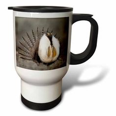 3dRose Greater Sage Grouse bird, Foster Flats, Oregon - US38 RBR0065 - Rick A. Brown, Travel Mug, 14oz, Stainless Steel