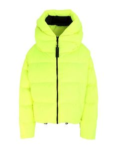 Quilted Techno fabric Fluorescent Logo Basic solid color Single-breasted Zip Hooded collar Multipockets Long sleeves Duck down filling Contains non-textile parts of animal origin Duck Down, Single Breasted, World Of Fashion, Techno, Bacon, Winter Jackets, Zip, Animal, Logo