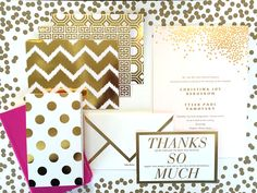 Metallic designs making the #2 spot in invitation trends on the blog! Invitation suite by No Regrets. #bridesofoklahoma #metallic #weddinginvtiations #invitationsuite #gold #wedding #oklahoma