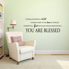 You Are Blessed Nursery & Kids Decorative Wall Decals and Stickers