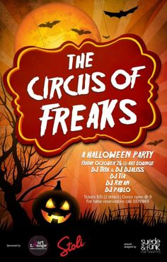 The Circus of Freaks…A Halloween Party