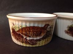 Estate Find - Vintage Set of 4 Bowls - Old English Game - Royal Worcestor 1978 English Games, Old English, Vintage Ceramic, Bowls, Porcelain, Pottery, Ceramics, Tableware, Ebay