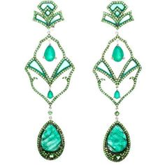 Dionea Orcini earrings with emeralds