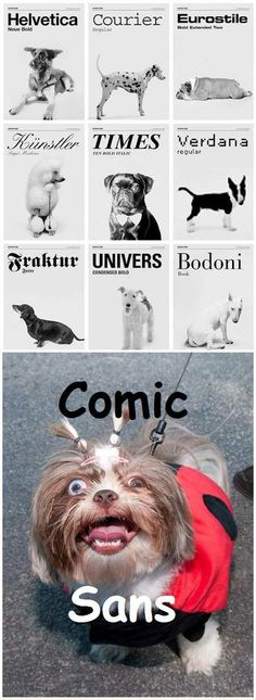 Dogs as fonts, aka the terror of Comic Sans