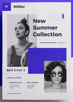 Fashion Flyer by micromove on Envato Elements Event Poster Design, Graphic Design Posters, Ad Design, Layout Design, Corporate Event Design, Flyer Design Inspiration, Creative Flyers, Flyer Layout, Grafik Design