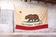 Vintage Original 1950's California Flag by MDQualityGoods on Etsy, $1595.00