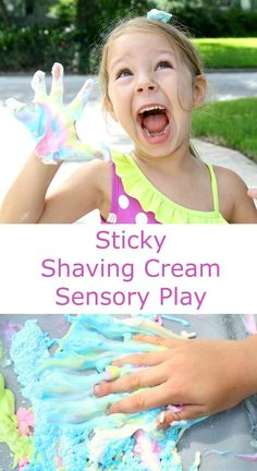 Sticky Shaving Cream Sensory Play #sensory #summer #kidsactivities