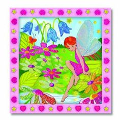 """Melissa & Doug Peel & Press Sticker by Number - Flower Garden Fairy by Melissa & Doug. $9.16. For For Ages s 5+. Preprinted, pre-framed wooden board. Improves fine motor skills and attention span. Over 100 glittering stickers. Dimensions: 11.75"""" x 10.75"""" x .75"""". From the Manufacturer                Fall under the spell of a beautiful fairy as you add magical, glistening colors to her enchanting world. Carefully place the gem-like stickers according to the number..."""