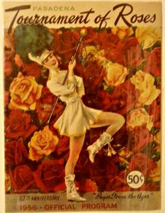 samanthasheehy:  1956 Official program from the Pasadena Rose Parade. 'Pages from the ages', i