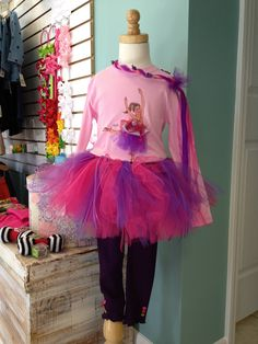We really like Sticky Pixies t-shirts!  Your little girl can change her ballerina or fairy to match her own tutu!  So Cute!