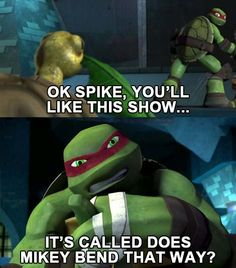 Does Mikey Bend That Way? #tmnt #raph