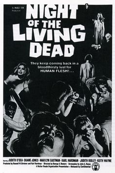 Night of The Living Dead (1968) Directed by George A. Romero. It was the basis of five subsequent Living Dead films (1978–2010) also directed by Romero, and has inspired remakes. Focuses on two main characters being attacked by zombies. This film is a classic and sparked my love for zombie films. If this is too old for you there is a newer version with the same name, which is directed by Tom Savini (1990). ~ Meg