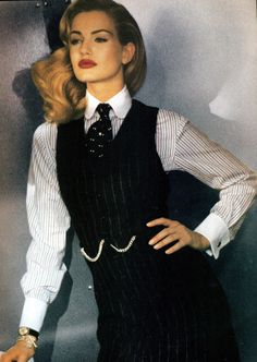 Karen Mulder for Ralph Lauren, 1992