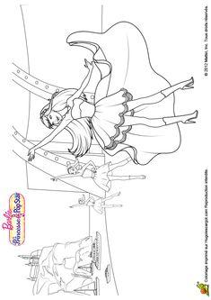 Un Joli Dessin A Colorier De Barbie Et Ses Amies Dansant Sur Le Quai Du Port