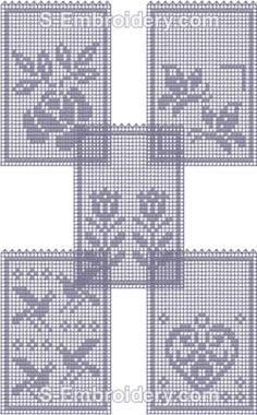 FSL Crochet Lavender Sachets Set