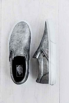 Vans Metallic Silver Slip-On Womens Sneaker - Urban Outfitters