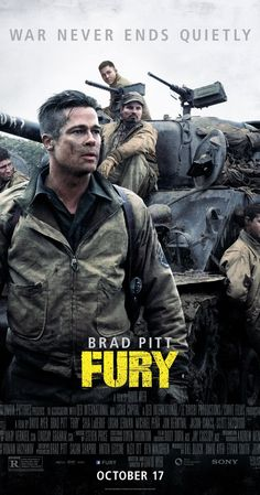 Fury (2014) - Directed by David Ayer. Fury is beautifully shot with a rawness and brutality I haven't seen in a long time, but I'm tired of films that continue to glamorize war-time brotherhood. The thoughtless carnage and faceless enemies aren't palatable any longer.