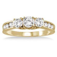1.00 Carat Diamond Three Stone Ring i... $449.00 #topseller