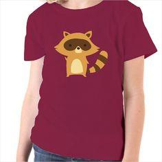 Camiseta para niños Mapache Amarillo