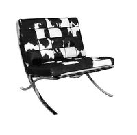 Black & White Natural Hide Barcelona Chair   To Enjoy More Beautiful Hollywood Interior Design Inspirations To Repin & Share @ InStyle-Decor.com Beverly Hills Enjoy