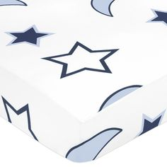 Sweet JoJo Designs Starry Night Stars and Moons Fitted Crib Sheet | Overstock.com