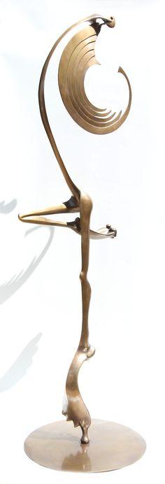 Flamingo Escultura em Bronze de Fernando Cardoso