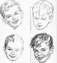 Drawing/ Childs' head.