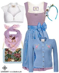 Wiesn Outfit in Flieder-Blau