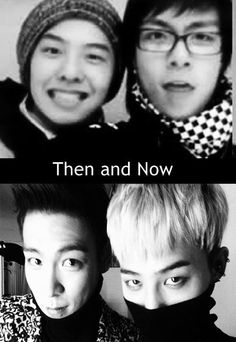 cute then and cuter now. G Dragon Black, G Dragon Top, Top Bigbang, Daesung, K Pop Boy Band, Boy Bands, Pop Crush, Gd And Top, Amazing Songs