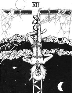 Tarot - The Hanged Man by ~bobveon on deviantART