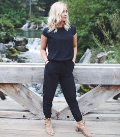 SHOP HERE! Our Black Jumpsuit is here! Designed like our Jetsetter Pants on bottom, they're the perfect fit—builtto move with you for maximum comfortas you go about your day. Whether you're taking a relaxed Sunday strollor dressing it up for a night out, this is your go-to for easy, cute, and comfortable style. Are you a fan of rompers? If so, you'll love this full length Jumpsuit, guaranteed to keep you warm and stylish all fall and winter long! | @albionfit